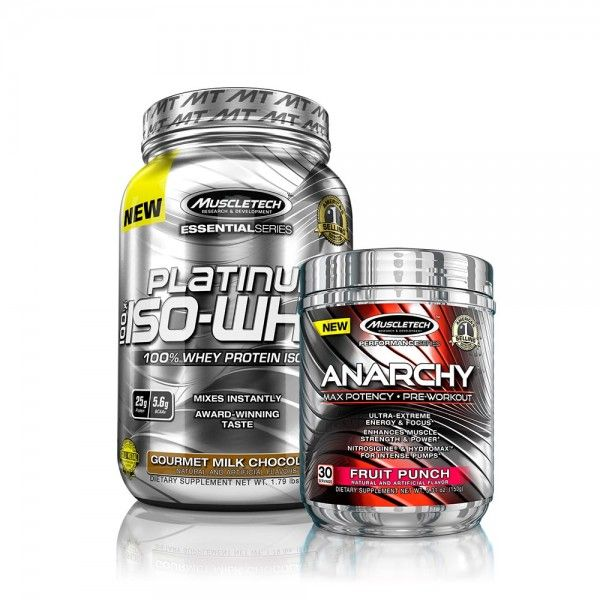 Get the MuscleTech Isolated Anarchy stack for $39.99 http://suppz.com/muscletech-isolated-anarchy-stack.html Anarchy pre-workout and Platinum Iso-Whey protein.