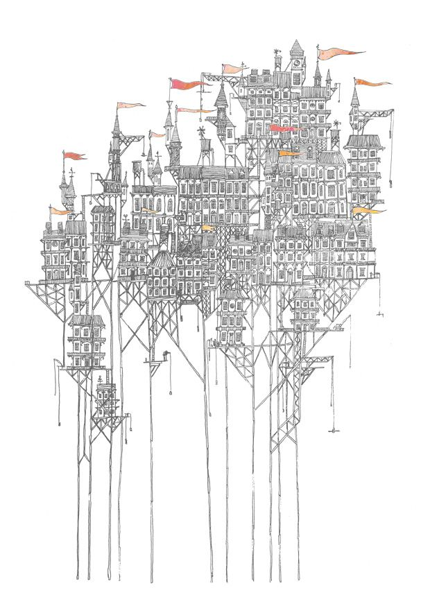 "Zenobia: a city above a dry plain. Based on one of Calvino's ""Invisible cities"". By Fleck"