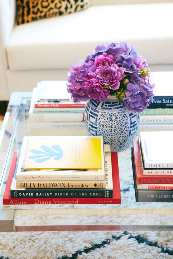 katie armour's apartment, matchbook magazine Coffee table styling