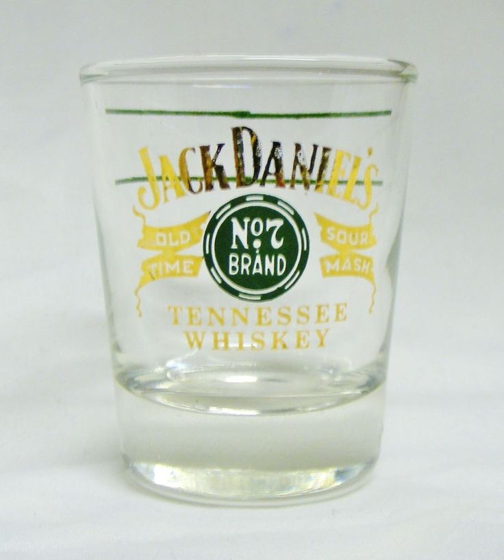 Vintage Jack Daniels Green Label No.7 Brand Tennessee Whiskey 1960's Shot Glass