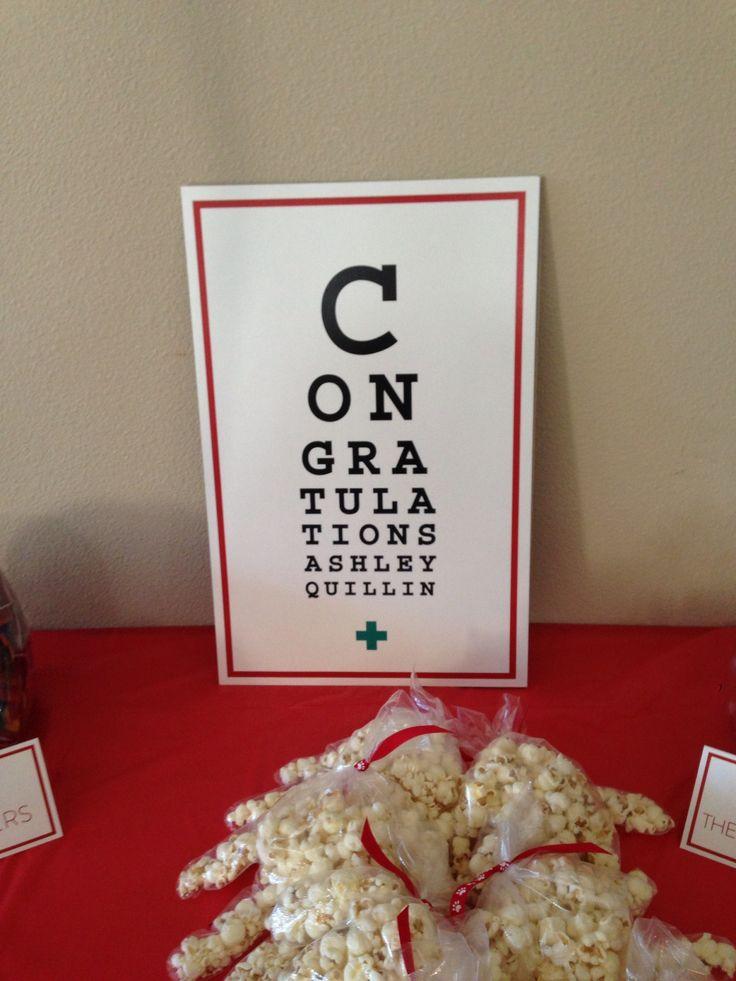 """Eye Chart"" at my Nursing Graduation Party!"