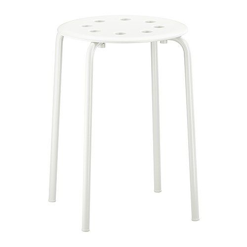 MARIUS Stool   - IKEA $4.99 (also available in red and black) => would be great as ottomans and coffee tables outside