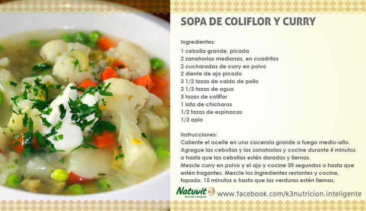 Sopa de coliflor y curry