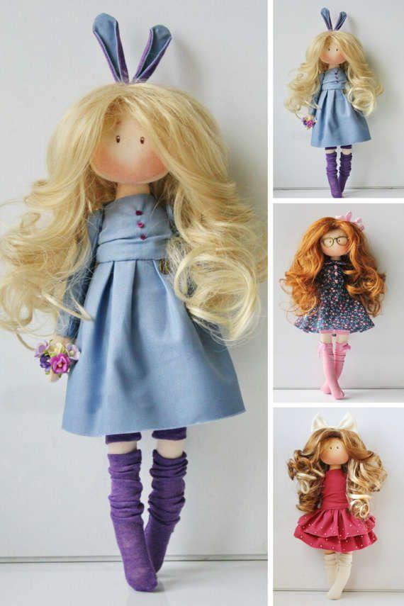 Muñecas Soft doll Handmade doll Textile doll by AnnKirillartPlace