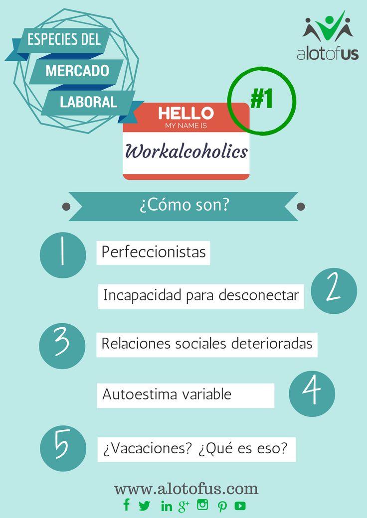 Los #Workalcoholics son especímenes que habitan tu #oficina adictos al trabajo. Aquí una #infografía sencilla para identificarlos. http://www.empleus.net/especies-del-mercado-laboral-1-workalcoholics/