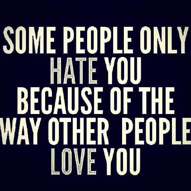 So true!!!!!!! Haters just gonna hate! ;)