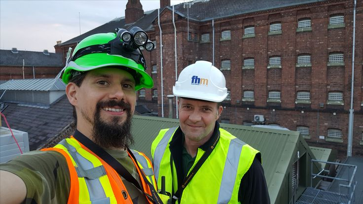 We at Frugeo often work in partnership with other local businesses and carry surveys outdoors. This picture was taken of our involvement in a bat survey at the Dana prison in Shrewsbury (2016)