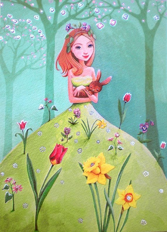 Happy Spring❤️Love and Hugs, Annie x o (Artist Mila Marquis)