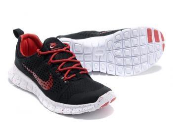 Cheap NIKE Free Powerlines + II Men Running Shoes Black / Red Sale UK - NIKE Free Powerlines Running Shoes