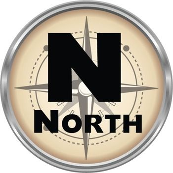 Compass Directions, North East South West - ZisforZebra Freebie