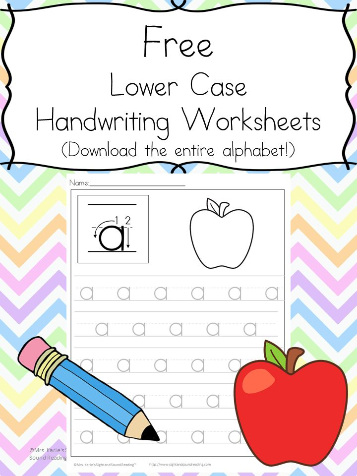 Help your child learn to write with these free handwriting practice worksheets. Download the entire alphabet (upper and lower case letters) all at once.