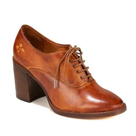 Patricia Nash Anna Leather Block-Heeled Oxford