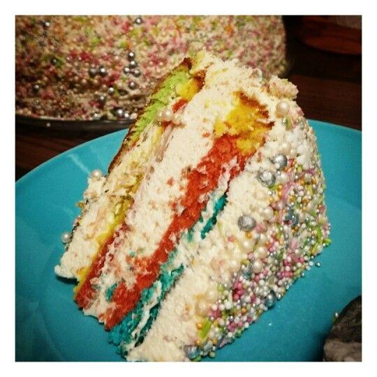 Rainbowcake slice