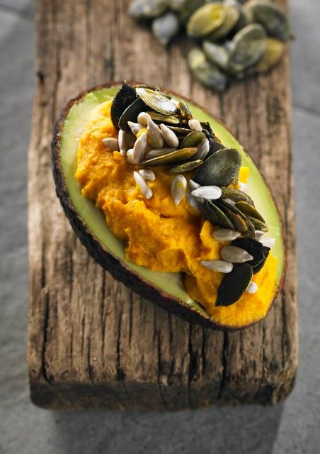 Carrot Hummus Avocado | healthy recipe ideas @xhealthyrecipex |