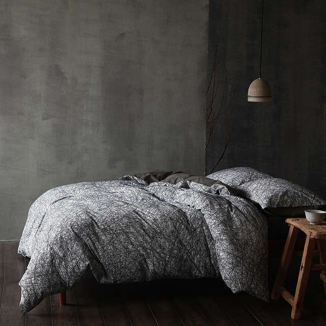 Buycloth & clay Nordic Nights Niko Duvet Cover and Pillowcase Set, King Online at johnlewis.com