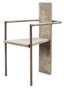 Jonas Bohlin, Concrete, betong, stol, fåtölj, Konstfack, 80-tal