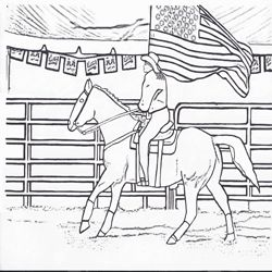 Click To Get My Free Printable Rodeo Flag Girl Coloring Page