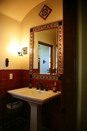Blue 6x6 Tile Kids Bathroom With Mexican Tile Accent: 88 Best Talavera Tile Bathroom Ideas Images On Pinterest