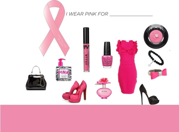 """""""pink ribbon"""" by michellebos1 on Polyvore"""