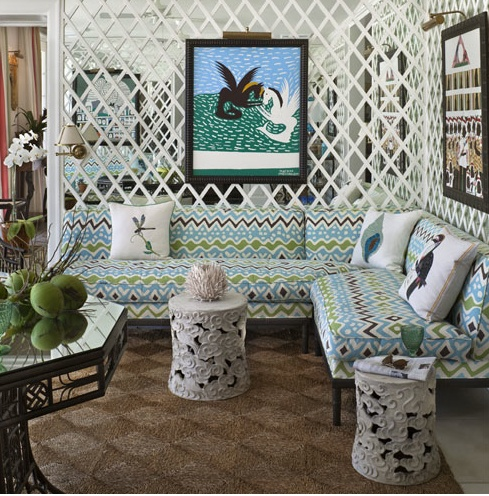 Kelly Green February This Is Slightly Ott And Just A Little Horrific But I M Loving The Idea Of A Lattice Wall To Divide Up My Lloooonng Dining Kitchen