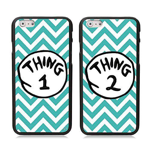 the best attitude e6691 70d7a iPhone 6 Case, Elonbo TM 2 X Cute Blue Waves Thing 1 2 Design Lovers ...
