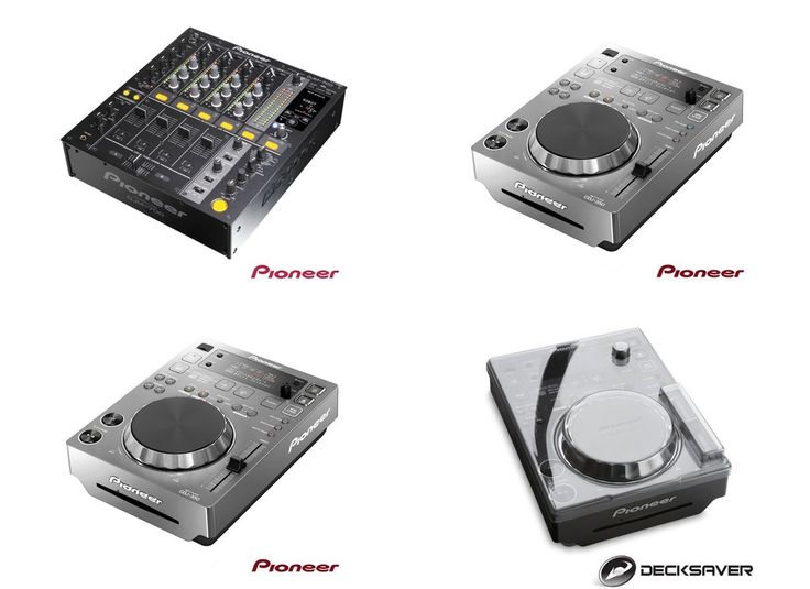 This bundle includes:  1x Pioneer Mixer DJM-700  2x Pioneer CD Player CDJ-350-S silver  2x Decksaver CDJ-350 Cover  More Info / Available here:  http://www.recordcase.de/en/Pioneer+Mixer+DJM+700+K+2x+Pioneer+CDJ-350+2x+Decksaver+Bundle,i9.htm?pid=Google-Ehlen