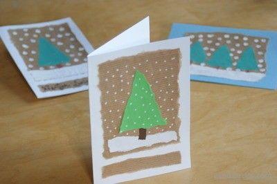Własnoręcznie wykonana kartka świąteczna na Boże Narodzenie   A self-made Christmas card for Christmas