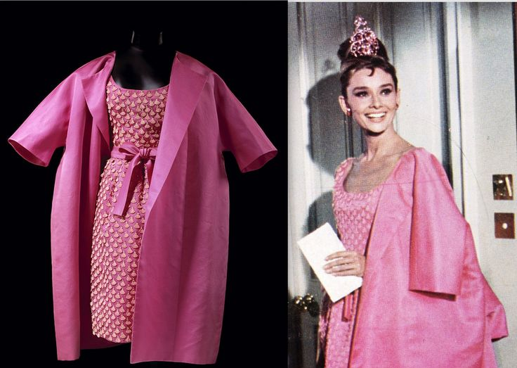 Audrey hepburn breakfast at tiffanys pink dress