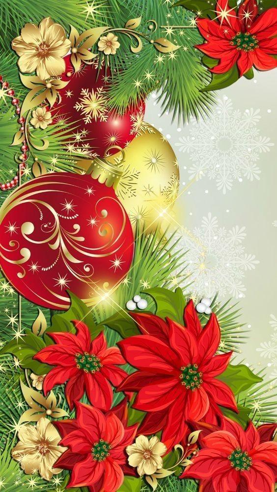 Для людмилы, цветок для новогодней открытки