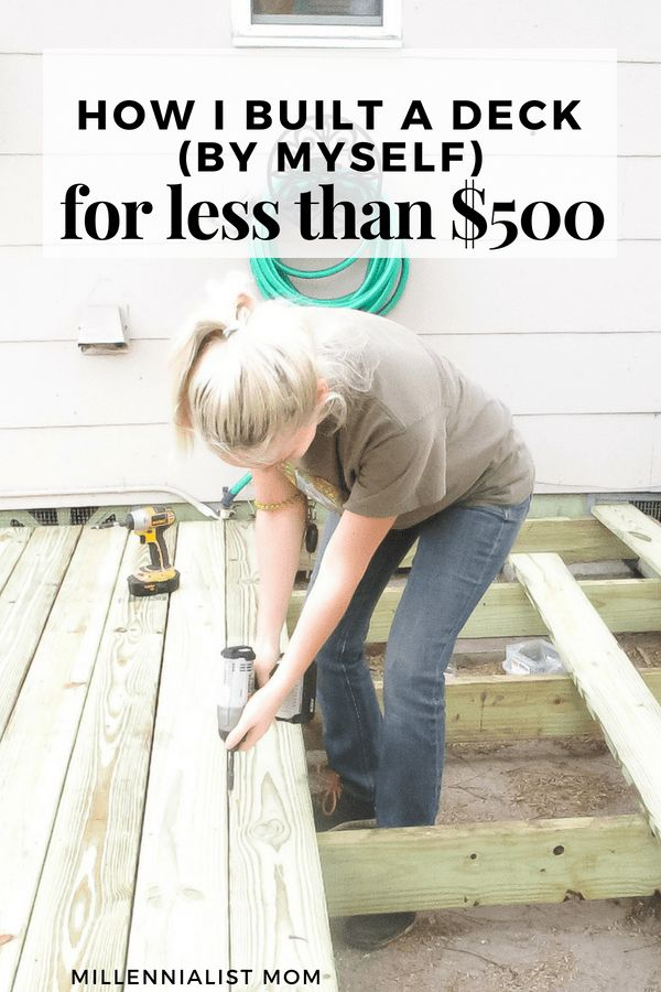 How I Built my DIY Floating Deck in 48 hours for less than $500…! – Ashley | Millennialist Mom