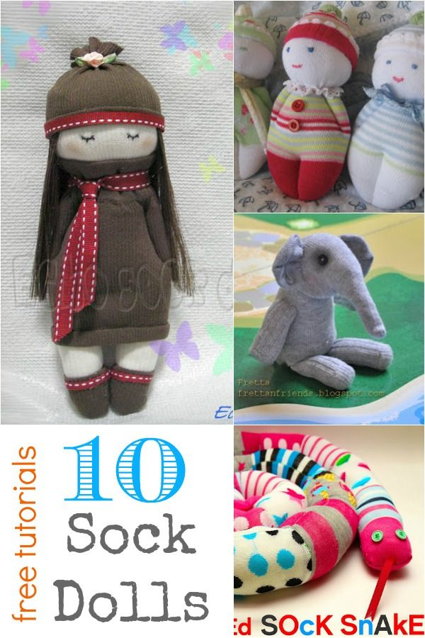 10 Sock Dolls – Free Tutorials!