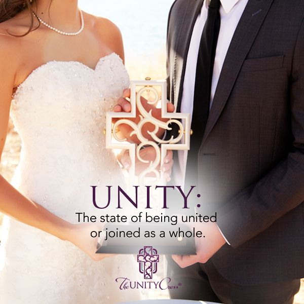 Unity: The state of being united or joined as a whole. Unitycross.com  #Define #UnityCross #Marriage #Wedding #Unity #Ceremony #Love