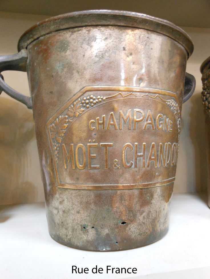 Rare Moet and Chandon French champagne bucket from the Art Deco era