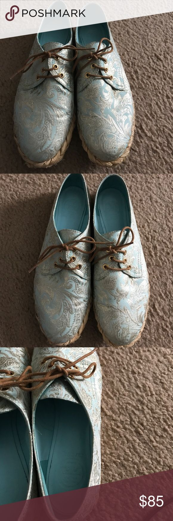Selling this Mint Jacquard Lace Shoes on Poshmark! My username is:  nik2mac2. #