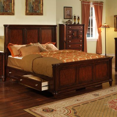 Greystone Ethan Panel Bed With Storage Drawer Wayfair