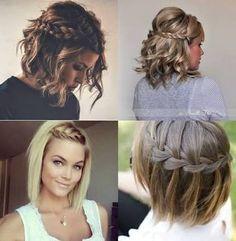 penteado com tranca cabelo curto - Pesquisa Google