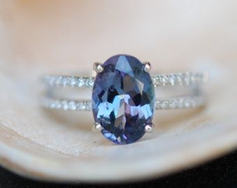 downpayment Tanzanite Ring. Rose Gold Engagement by EidelPrecious