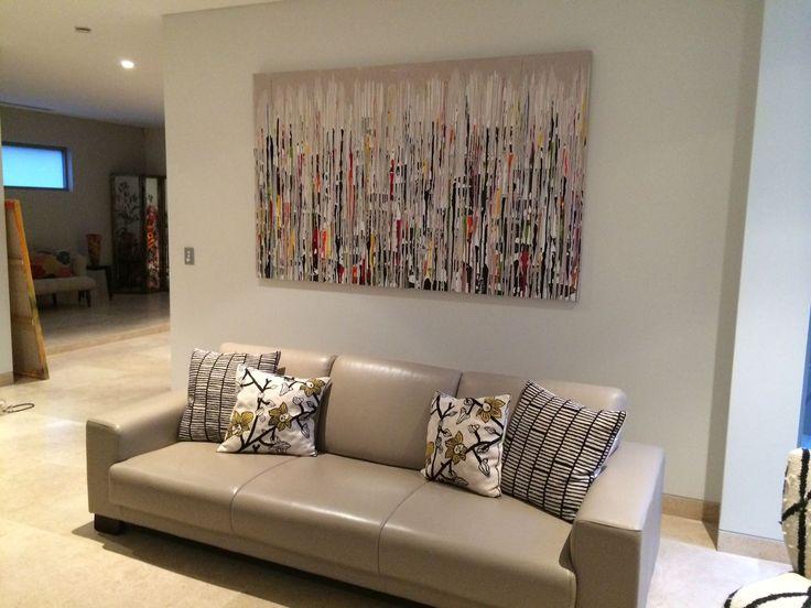 Hidden City larges interior design abstract artwork   Pinturas ...