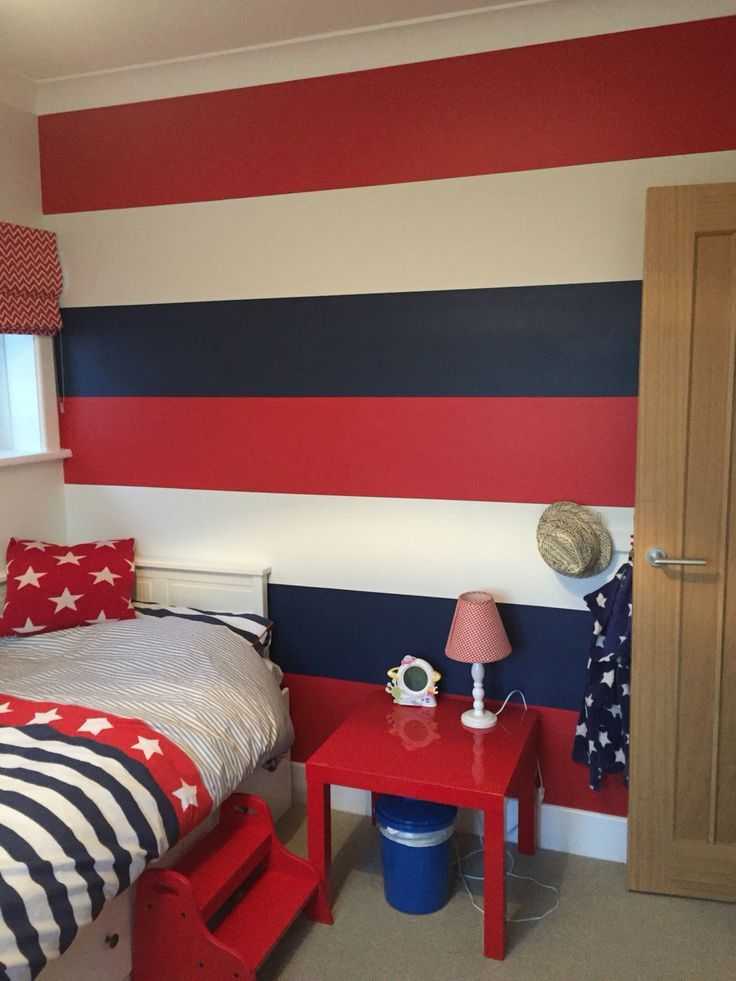 Red And Blue Boys Bedroom