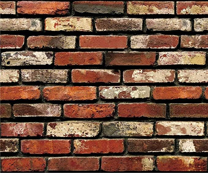 Yancorp Self Adhesive Wallpaper Rust Red Brown Brick Contact Paper Fireplace Peel Stick Wall Stickers Brick Wallpaper Wall Decor Stickers Brick Wall Wallpaper