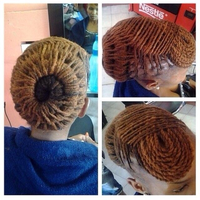 Natural Hair Locs Updo