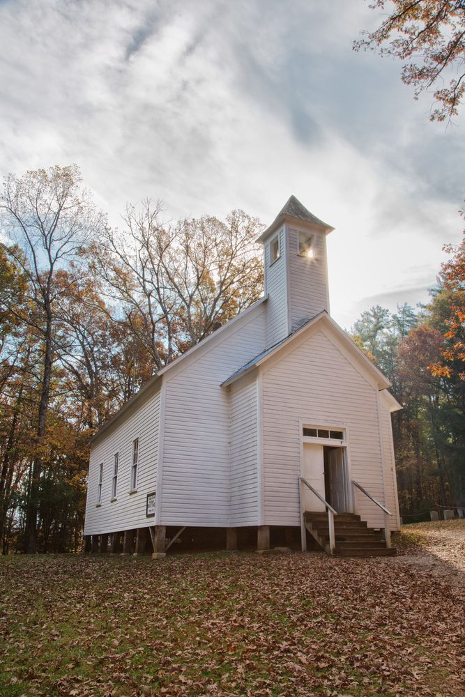 Old baptist chuch in Cades Cove