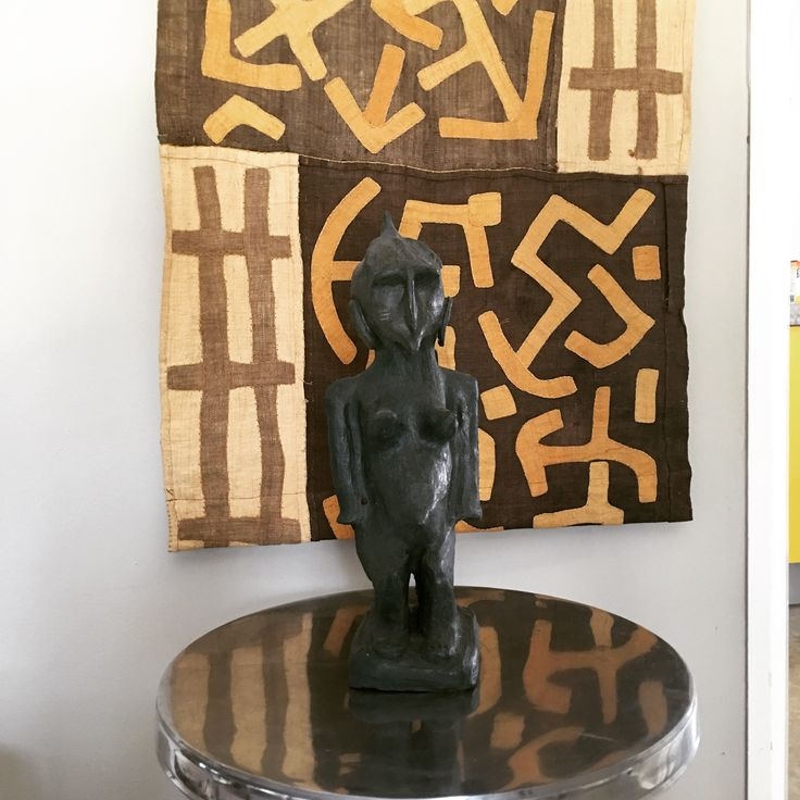 African figure clay