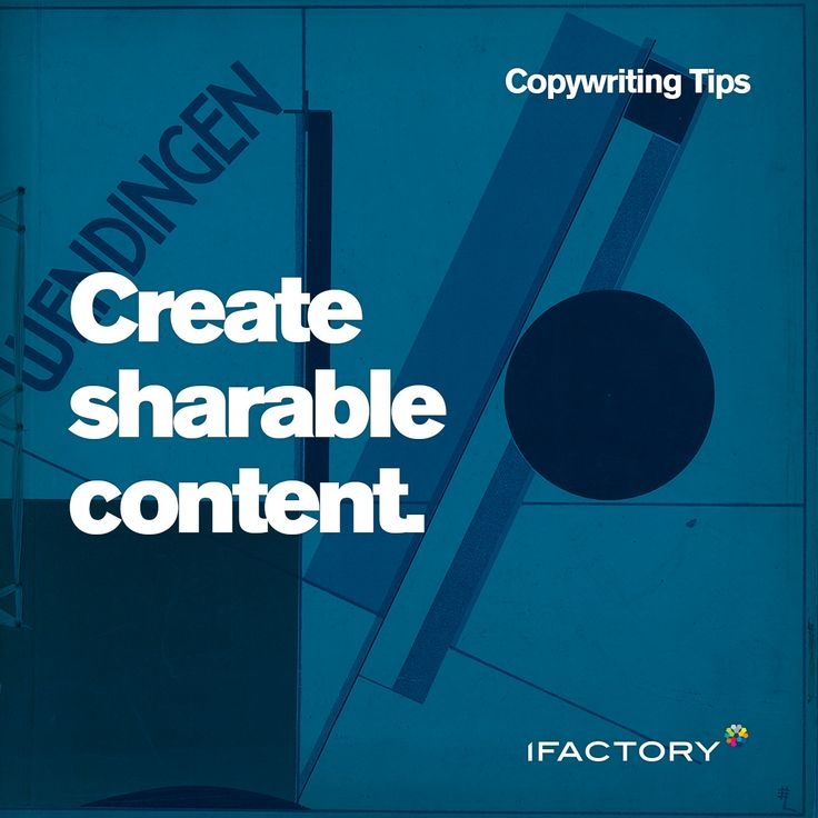 Copywriting Tips: Create sharable content. #tips #tricks #copy #content #online #sharable #copywriting #seo #australia #advertising #digital
