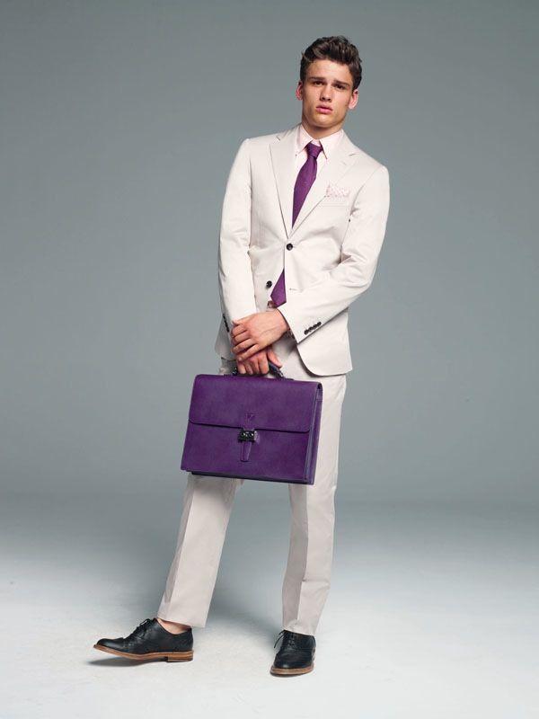 Simon Nessman, purple case, Loewe Men's Spring Fashion.