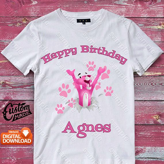 Pink Panther Personalized Party Favor  T Shirt