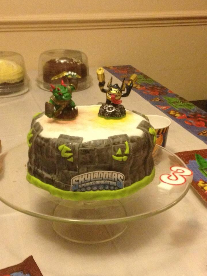 Sky landers theme (with real skylanders for decoration!)