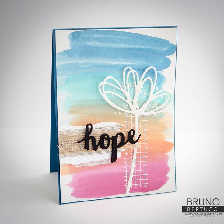 Bruno Bertucci | Stampin Up | stampinbruno | Timeless Textures | Sunshine Sayings | Aqua Painter | Hope | Handmade Card