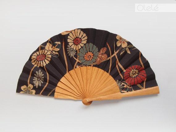 Japanese flowers Fan by Olele on Etsy