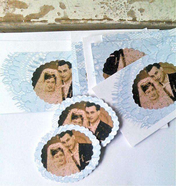 ♥ popeyetalk: DIY Goldene Hochzeit Tutorial N°1... How To Paper-Medaillons !!!